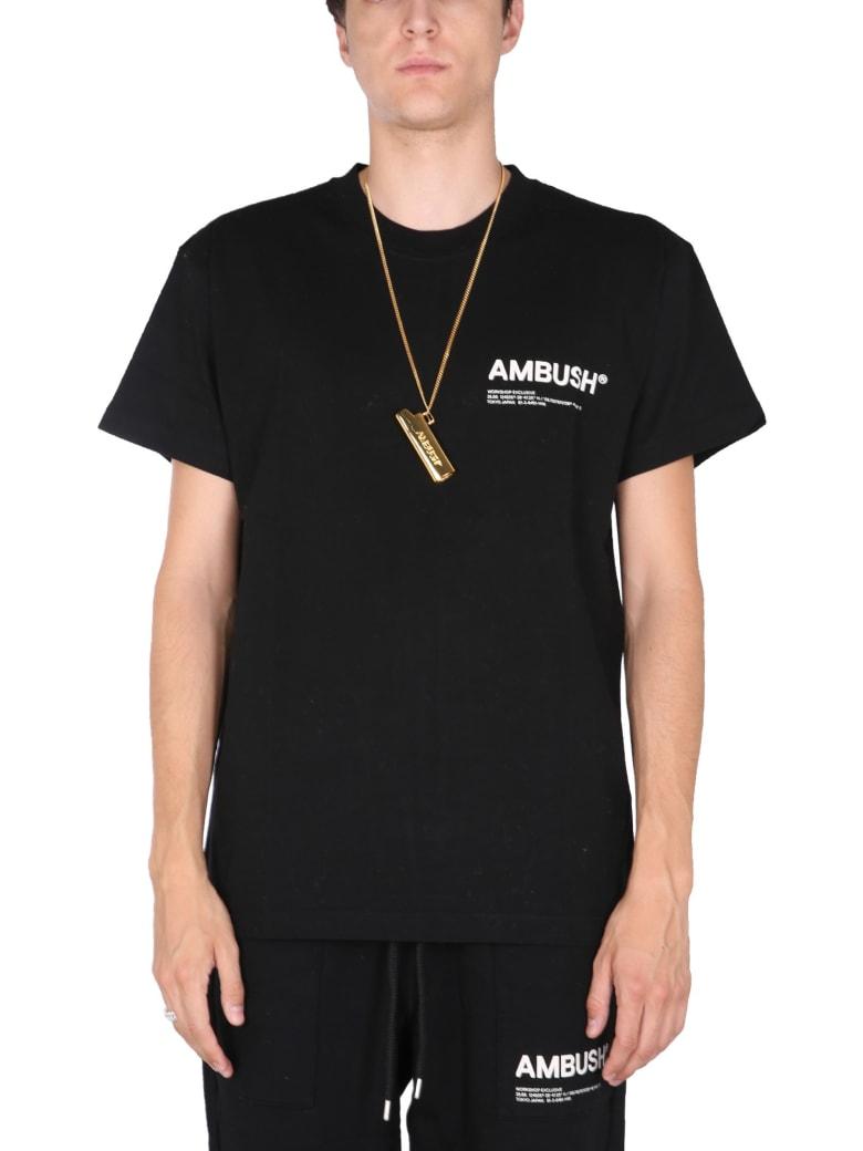 AMBUSH T-shirt With Logo Print - BLACK TOFU