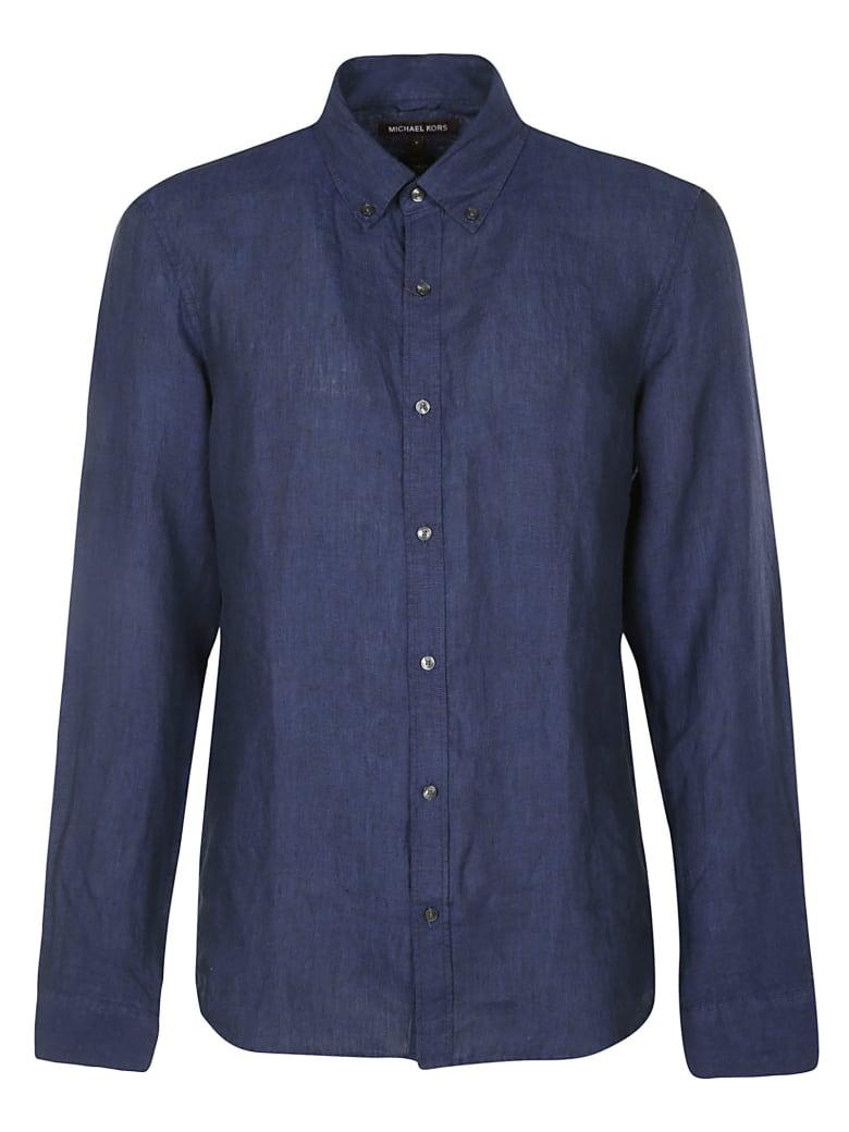 Michael Kors Round Hem Plain Shirt - Blue