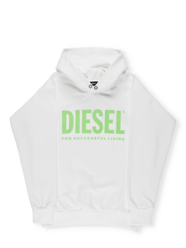 Diesel Logo Hoodie - White