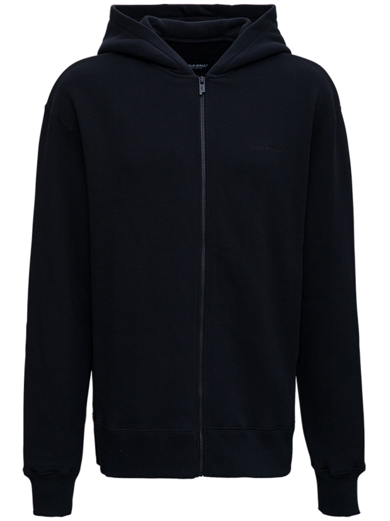 A-COLD-WALL Black Jersey Hoodie With Logo - Black