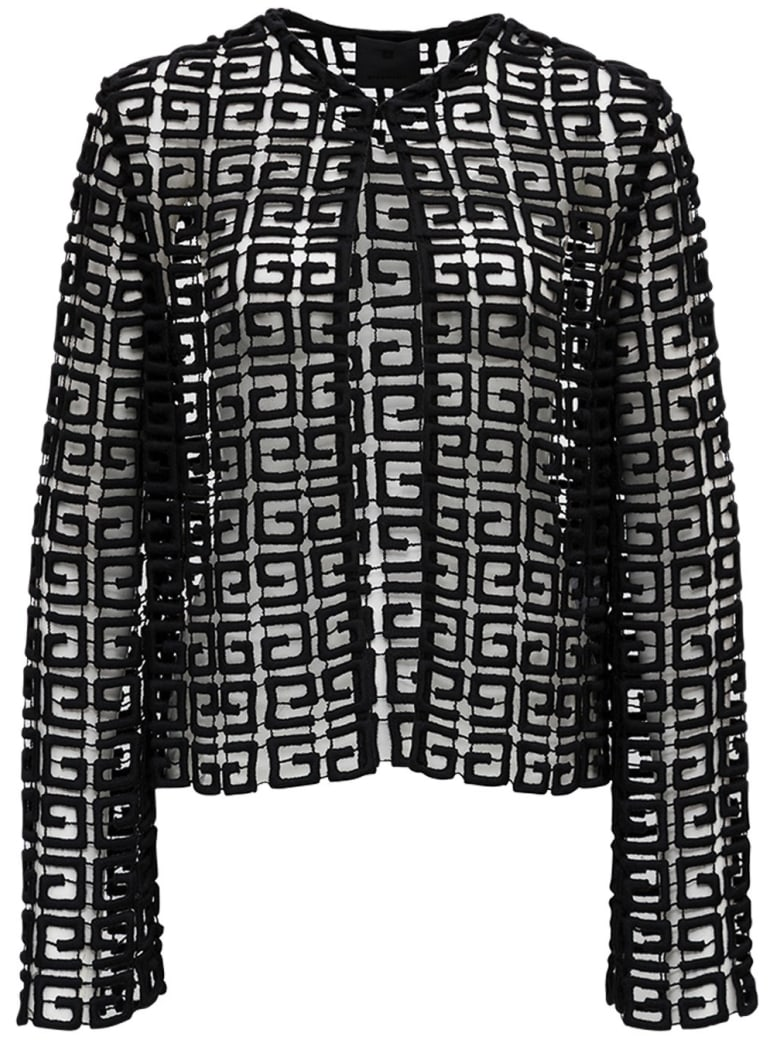 Givenchy Perforated 4g Jacket - Black