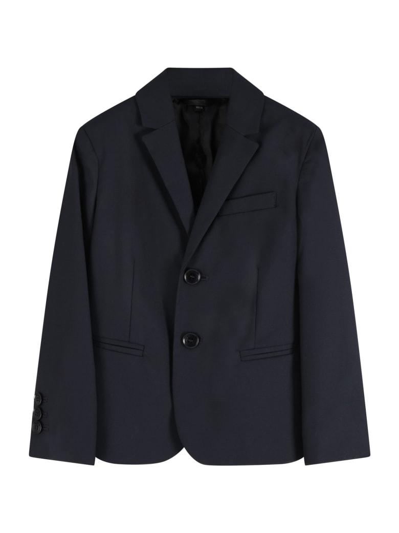 Armani Collezioni Blue Jacket For Boy - Blue