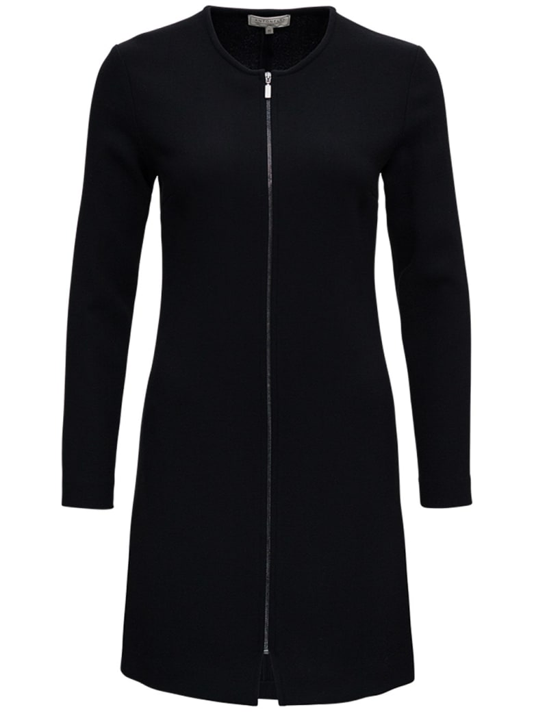 Antonelli Black Orazio Dress In Wool Blend - Black