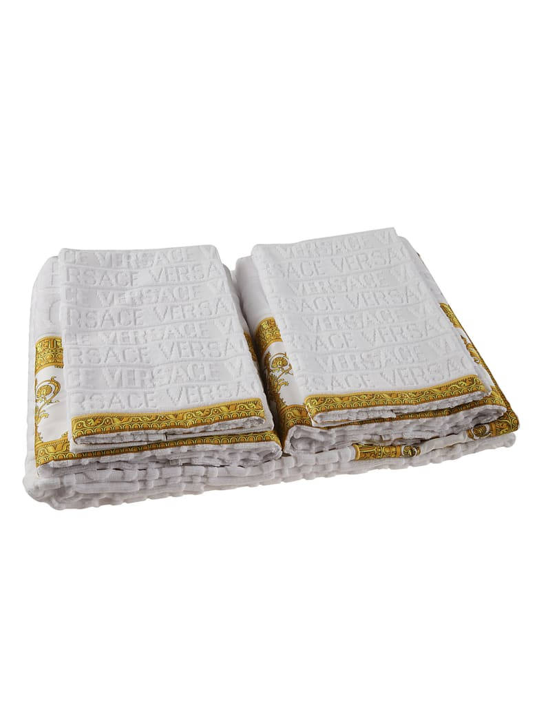 Versace Logo Beach Towel - White