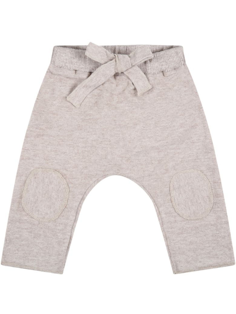 """Caffe' d'Orzo Beige """"dafne"""" Trousers For Baby Girl With Bow - Beige"""