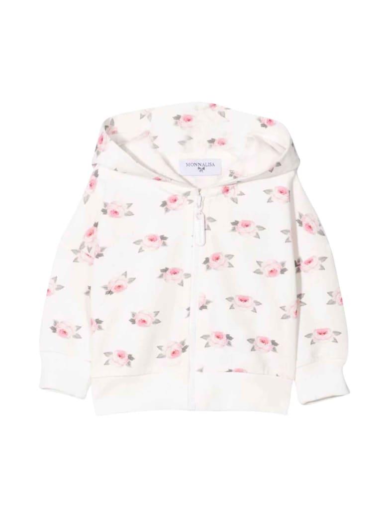 Monnalisa Newborn Floral Sweatshirt - Rosa