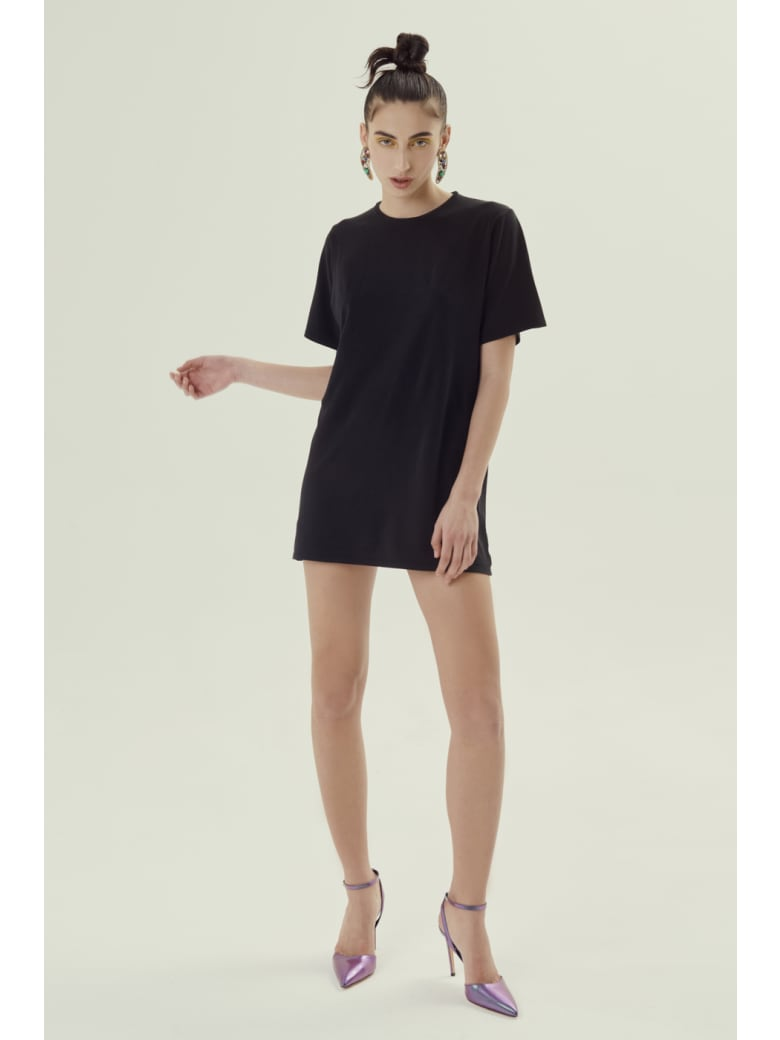 Antonella Rizza T-Shirt Long Mely Black - Black