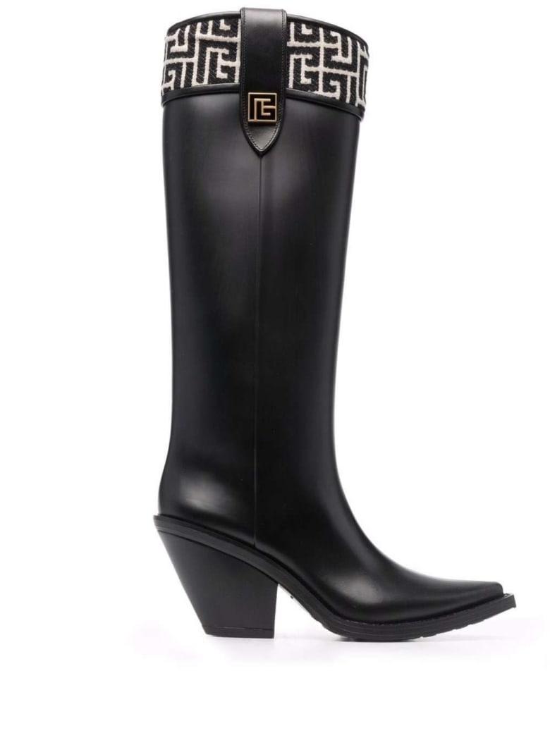 Balmain Black Rubber Tess Boots - Black