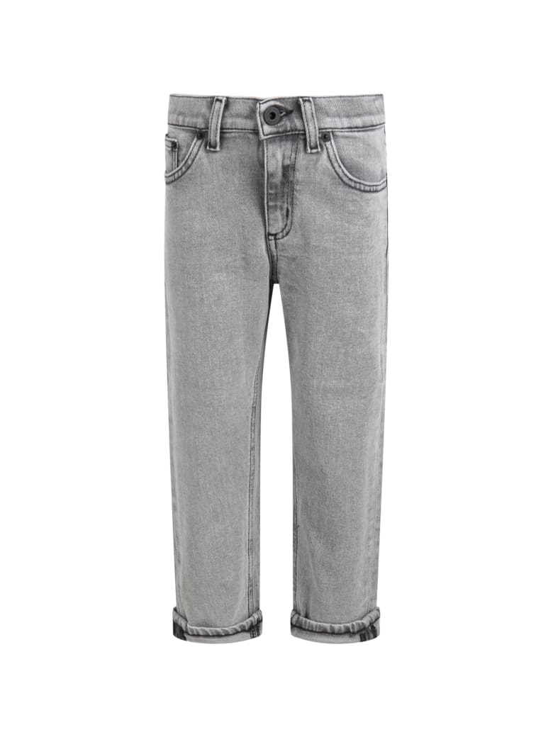 Dondup Grey ''brighton'' Jeans For Boy With Iconic D - Grey
