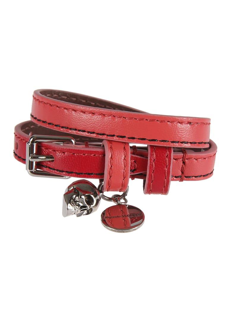 Alexander McQueen Double-wrap Bracelet - Brightpinkred