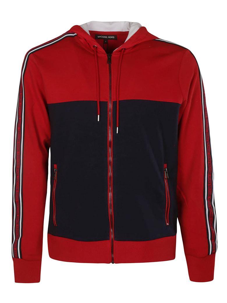 Michael Kors Side Stripe Logo Hooded Jacket - Magenta