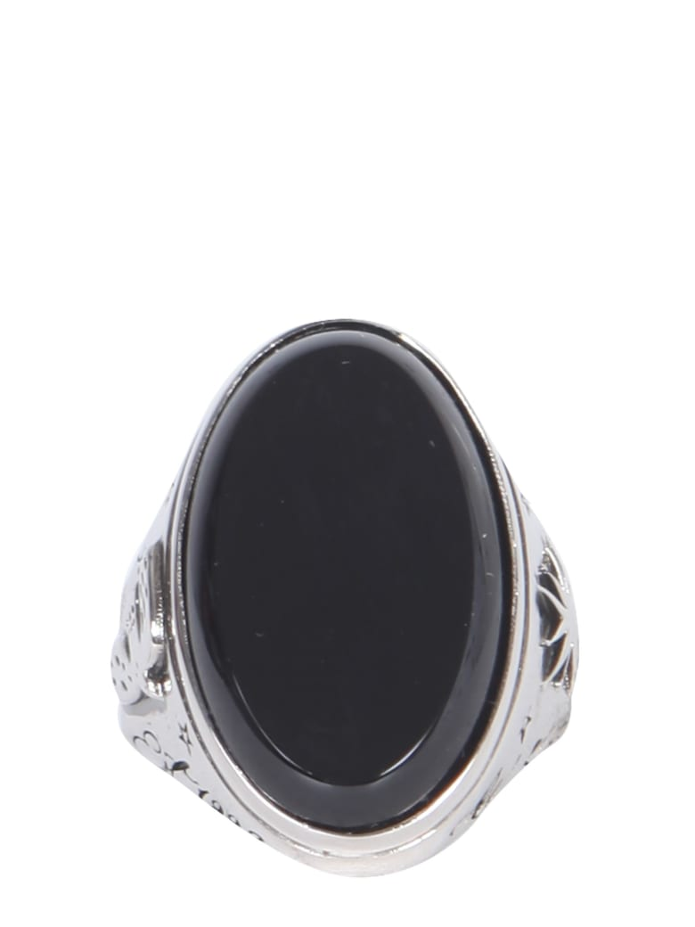 Alexander McQueen Ring With Glass Stone - ARGENTO