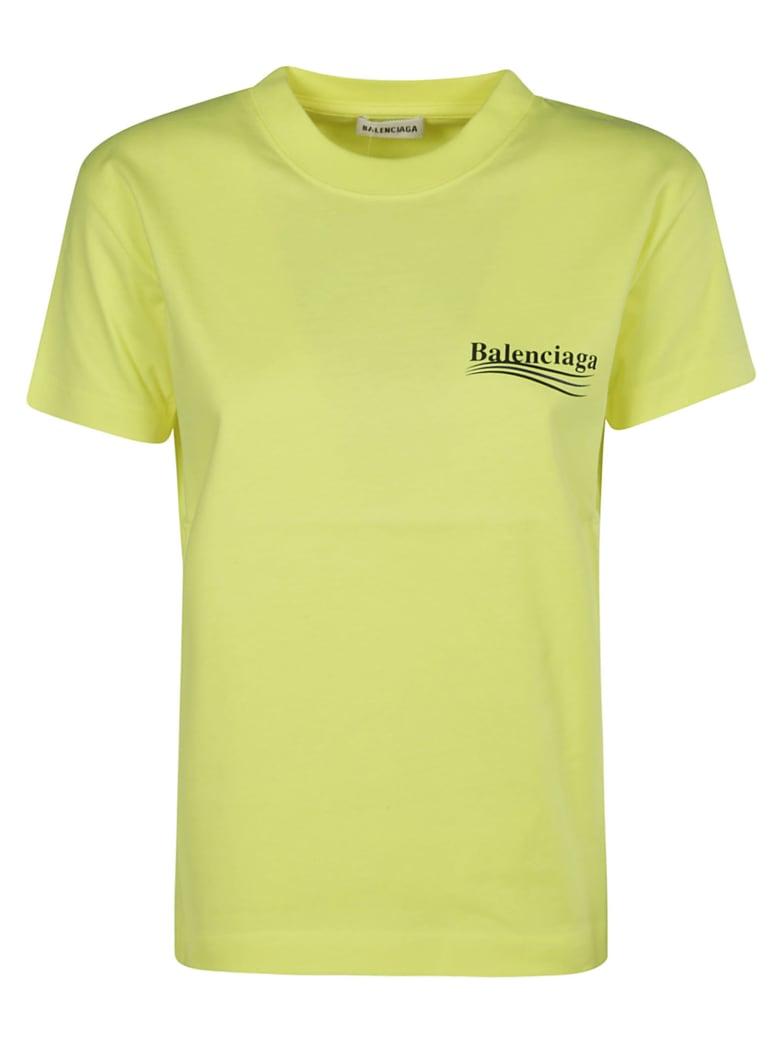 Balenciaga Logo Print T-shirt - Giallo