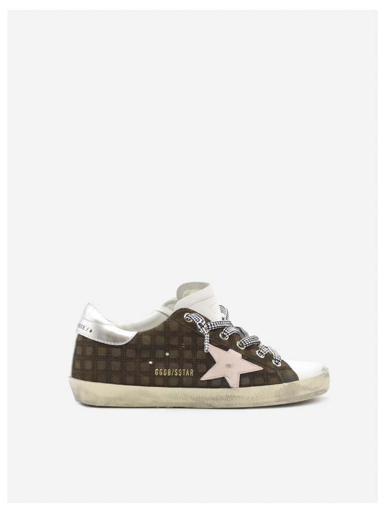 Golden Goose Superstar Sneakers In Leather With Contrasting Inserts - Chocolat