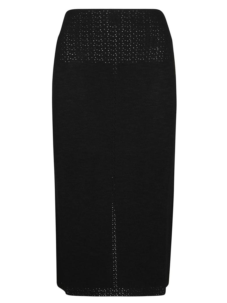 Victoria Beckham Fitted Midi Skirt - Black