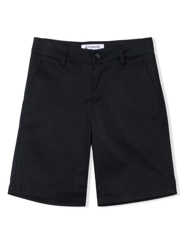 Dondup Navy-blue Cotton Chino Shorts - Blu