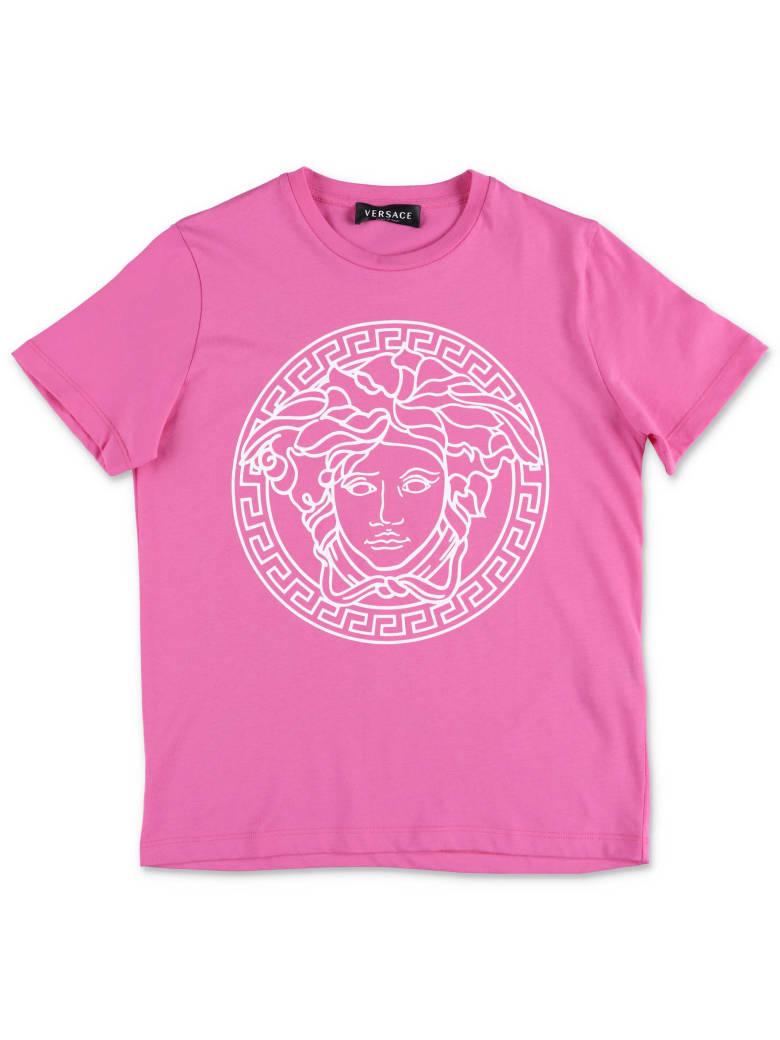 Versace T-shirt - Fucsia/bianco