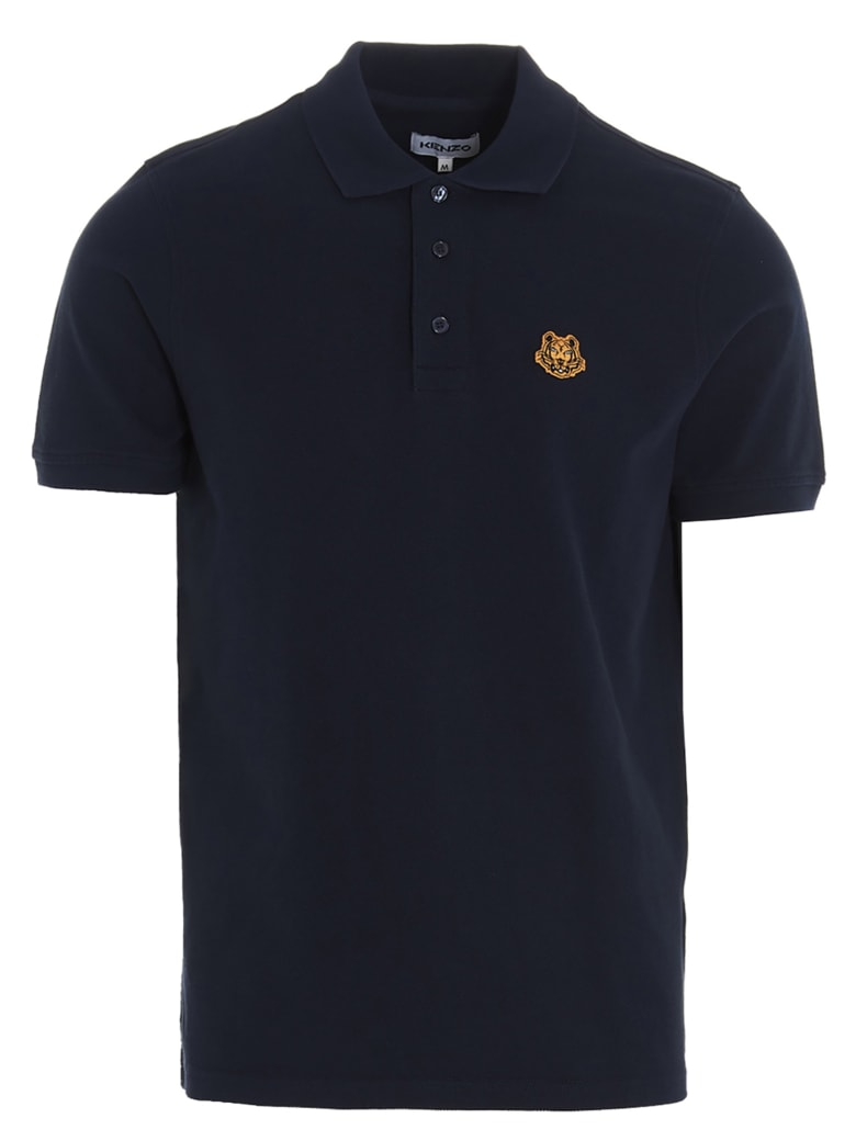 Kenzo 'tiger Crest' Polo - Blue