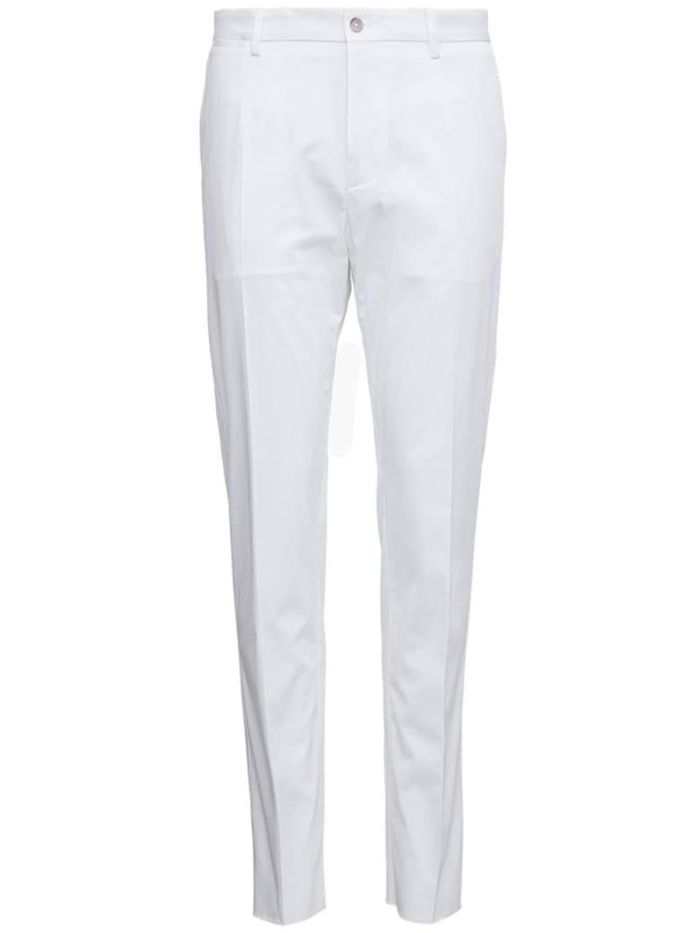 Dolce & Gabbana White Cotton Tailored Pants - White