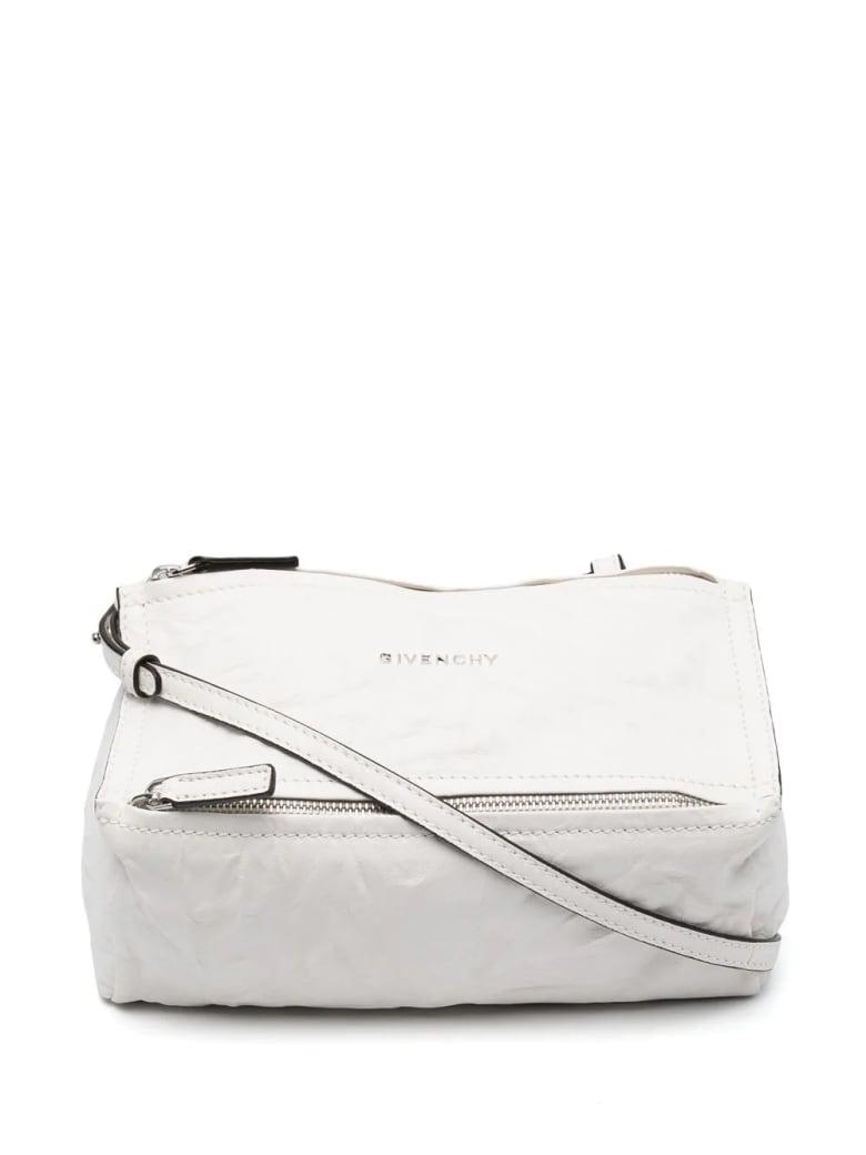 Givenchy White Mini Pandora Bag In Aged Leather - Ivory