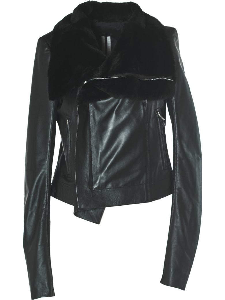 Rick Owens Leather Padded Jacket
