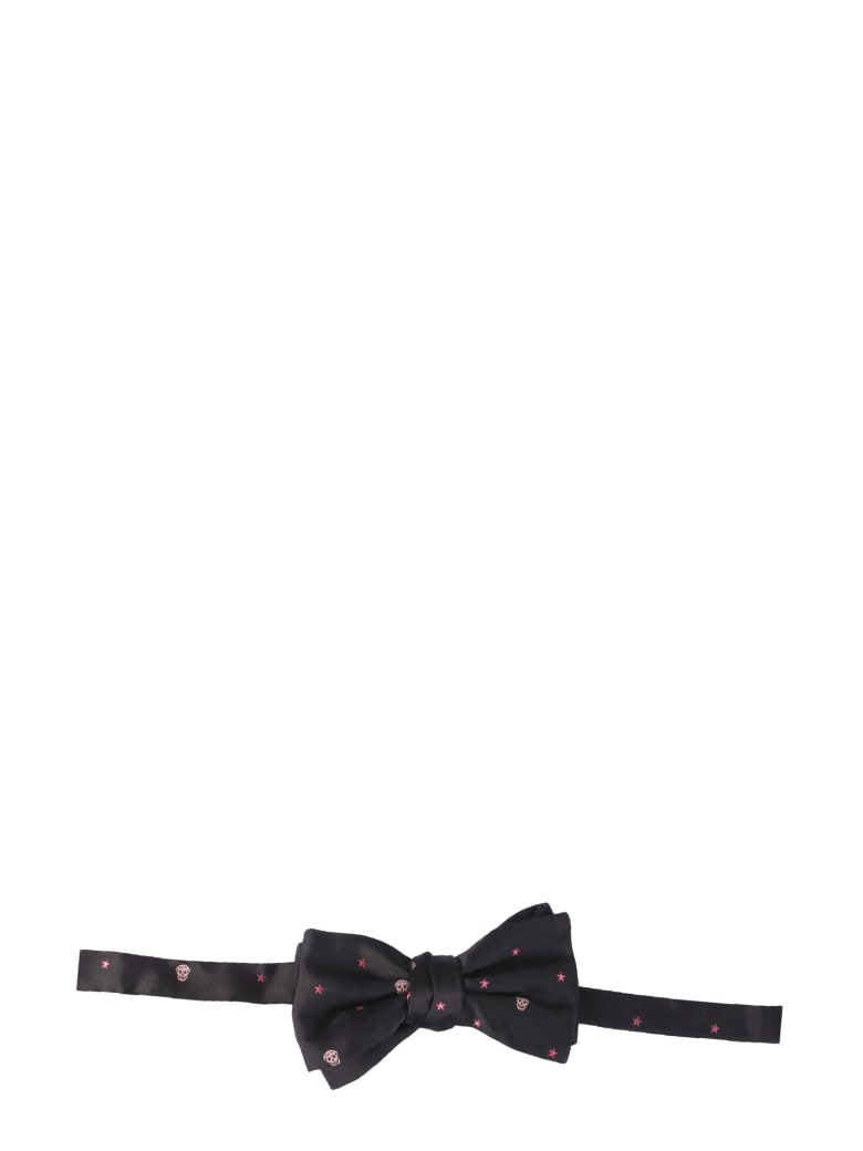 Alexander McQueen Papillon With Skull And Star - NERO