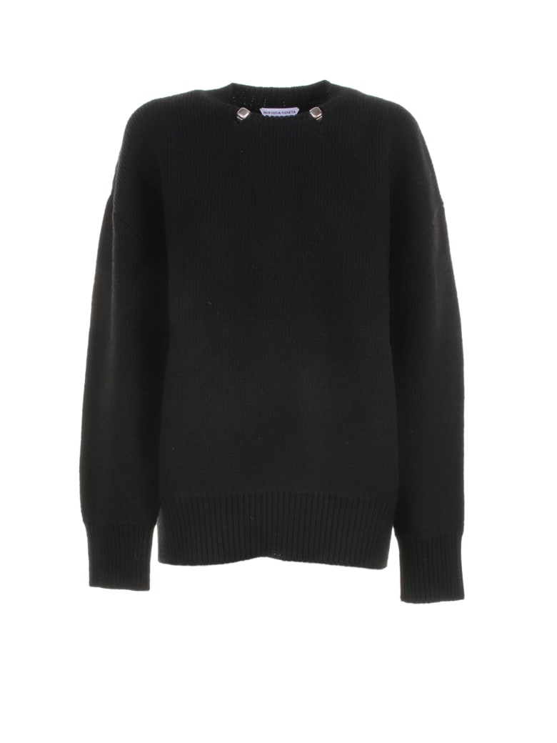 Bottega Veneta Jumper In Black Wool - BLACK