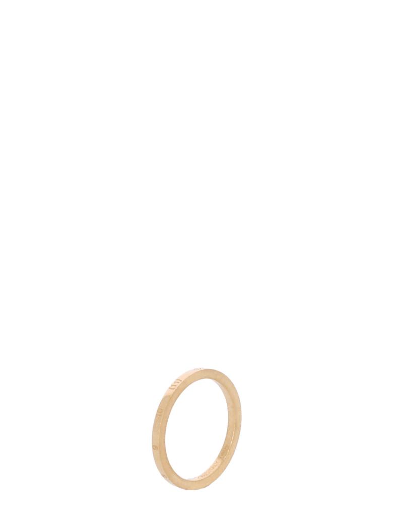 Maison Margiela Thin Ring With Numerical Logo - GOLD