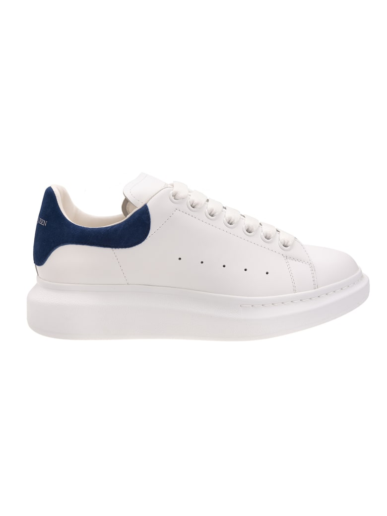 Alexander McQueen White And Blue Man Oversized Sneakers - White/paris blue