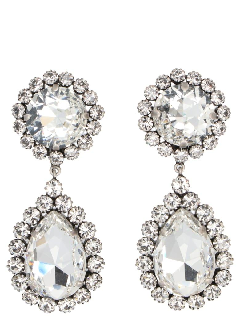 Alessandra Rich 'crystal' Earrings - Silver