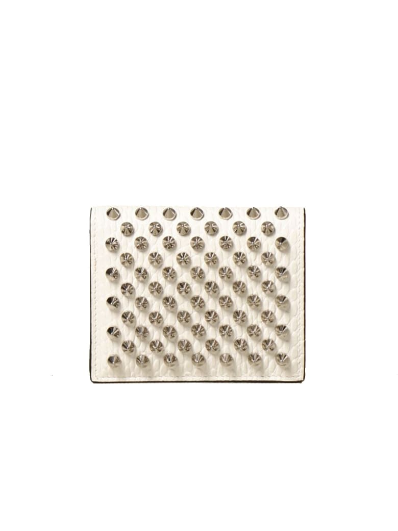 Christian Louboutin White/silver Snake Printed Leather W Palatin Wallet - WHITE/SILVER