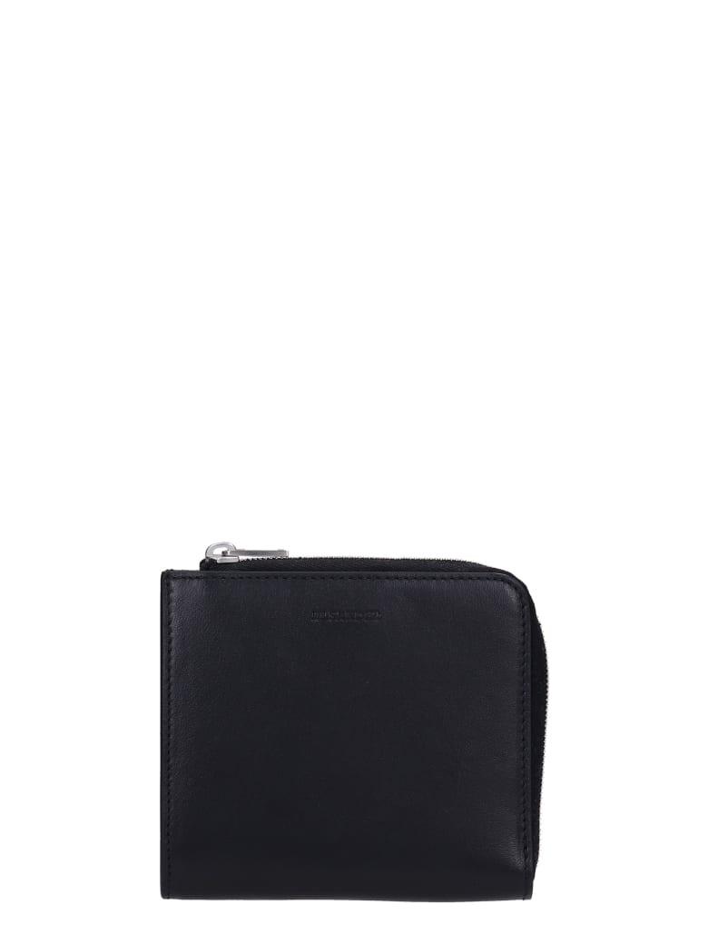 Jil Sander Wallet In Black Leather - black
