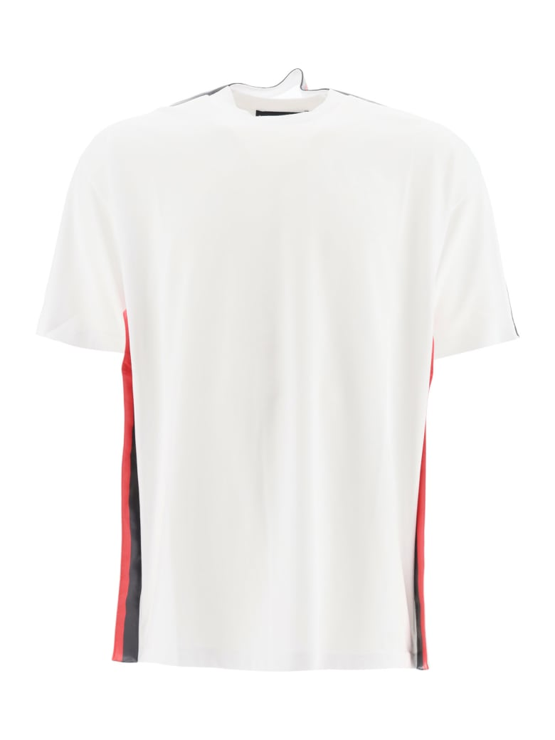 Y/Project T-shirt With Two-tone Bands - WHITE GREY STRIPE (White)