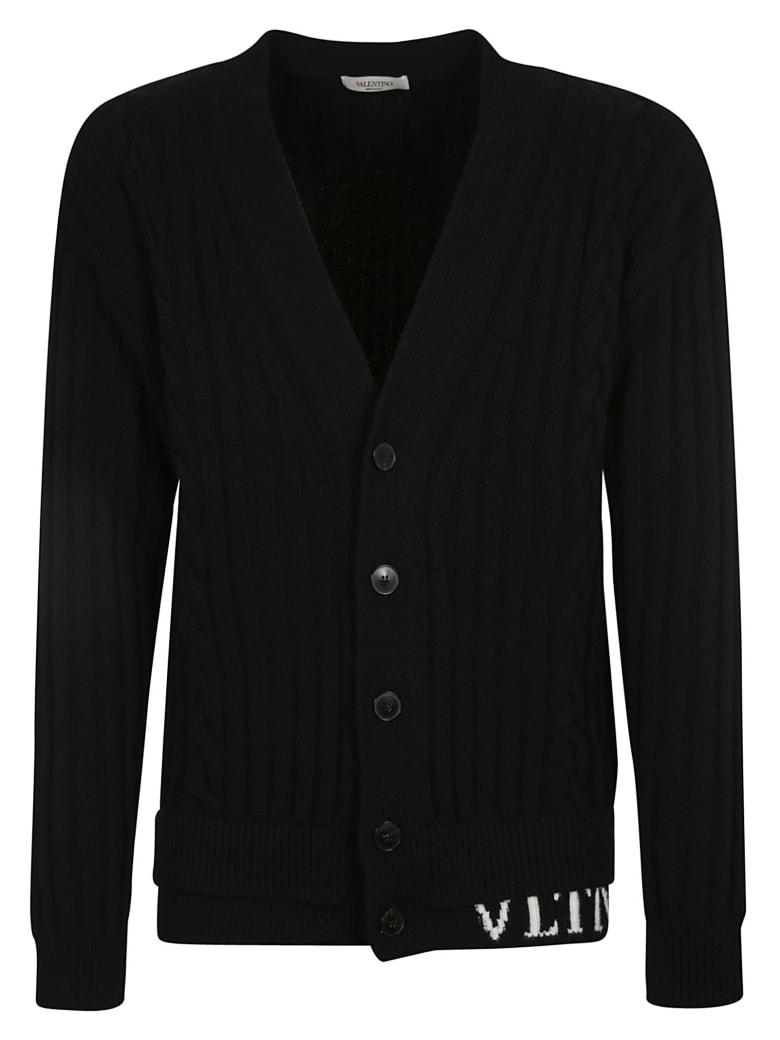Valentino Vltn Knit Cardigan - Black/Ivory