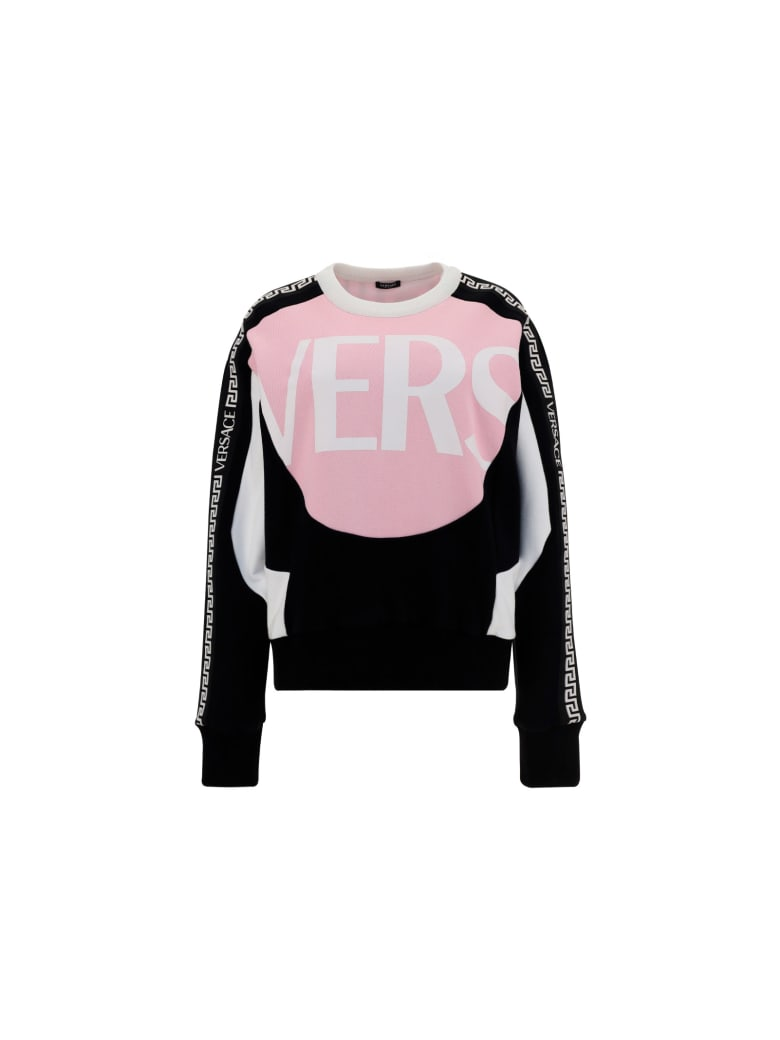 Versace Sweatshirt - Bianco+nero+rosa