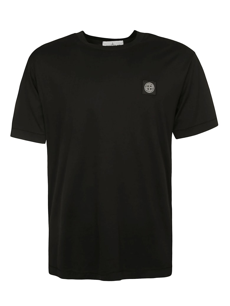 Stone Island Chest Logo Patch T-shirt - Black