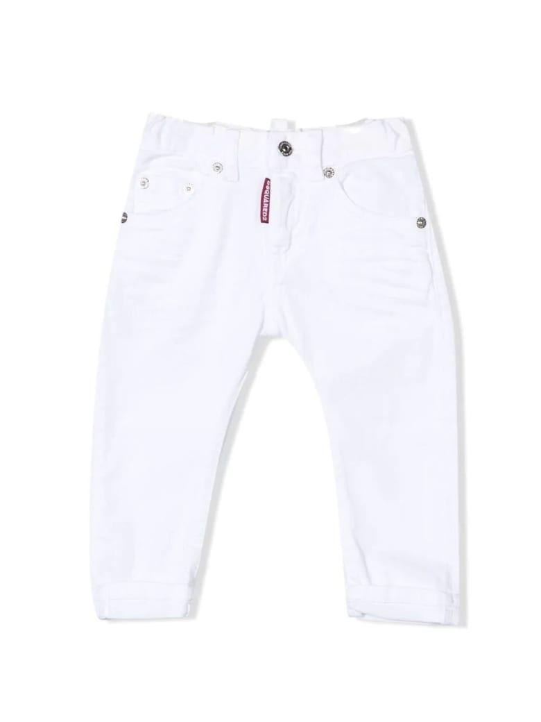 Dsquared2 White Stretch Cotton Denim Jeans - Bianco