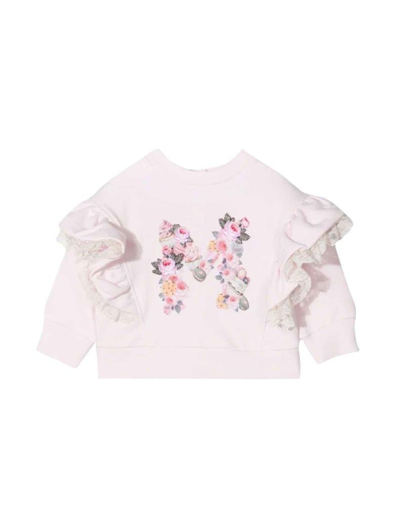 Monnalisa Newborn Pink Sweatshirt - Rosa