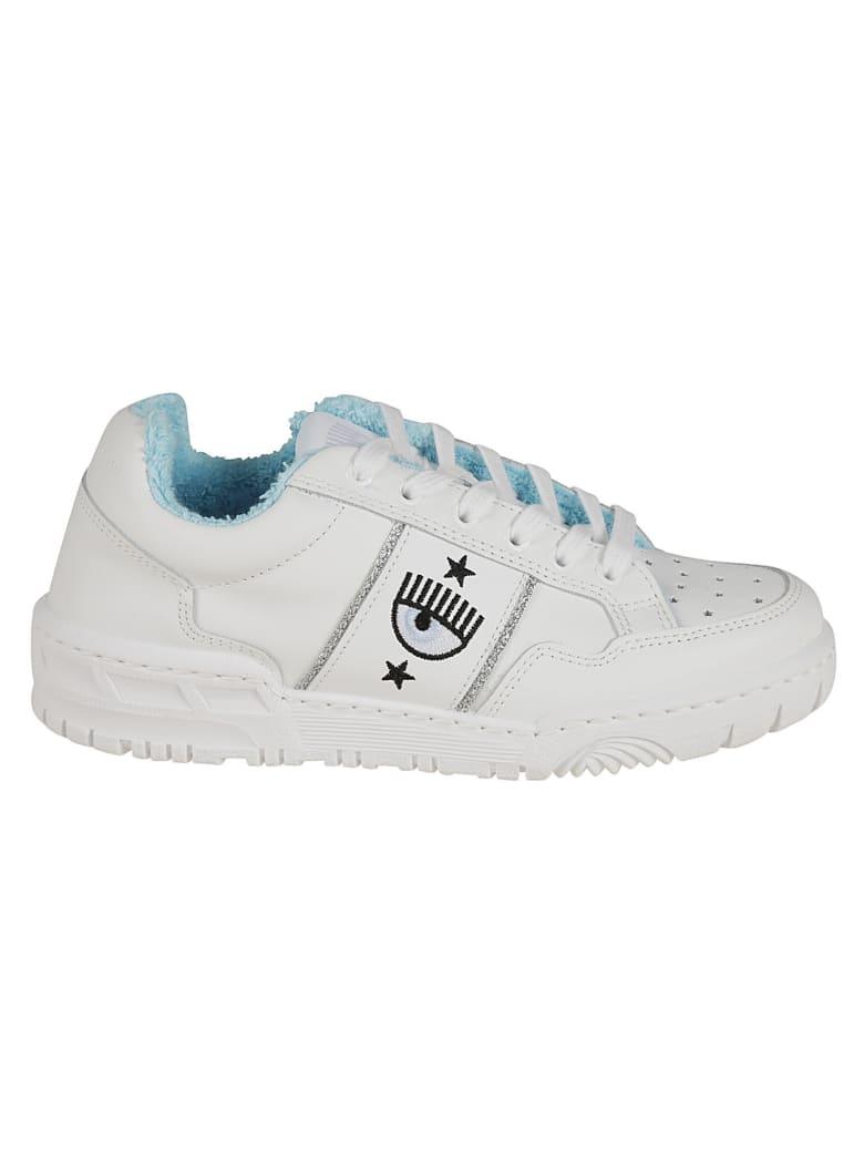 Chiara Ferragni Flirting Eye Logo Sneakers - White