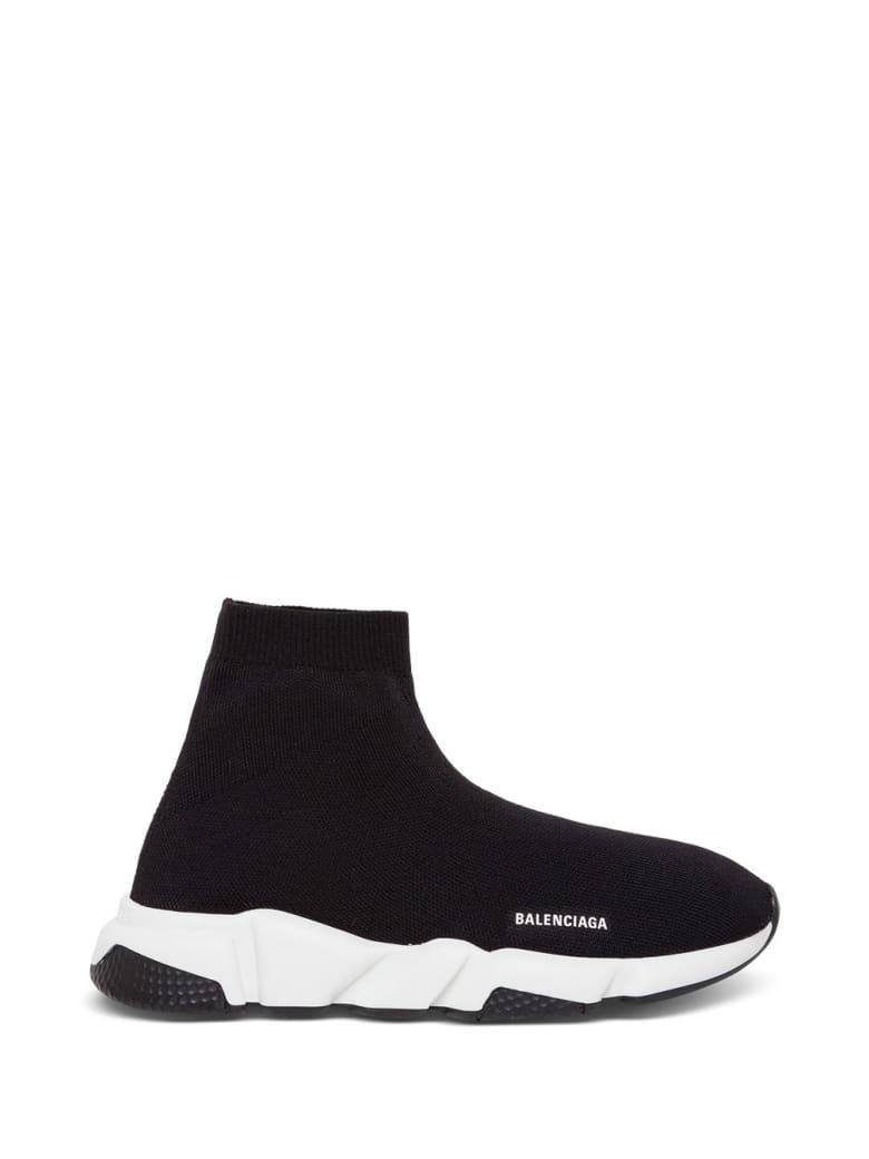 Balenciaga Speed Sneakers With Logo - Blackwhite