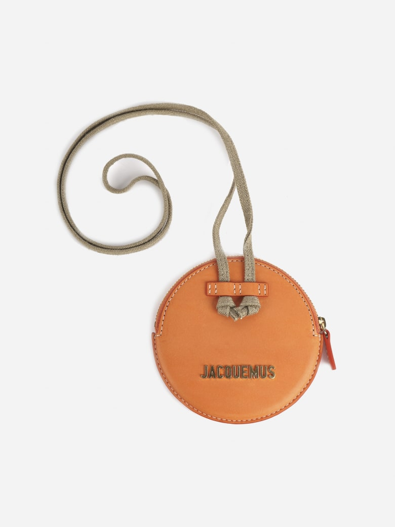 Jacquemus Coin Purse In Leather With Logo - Orange