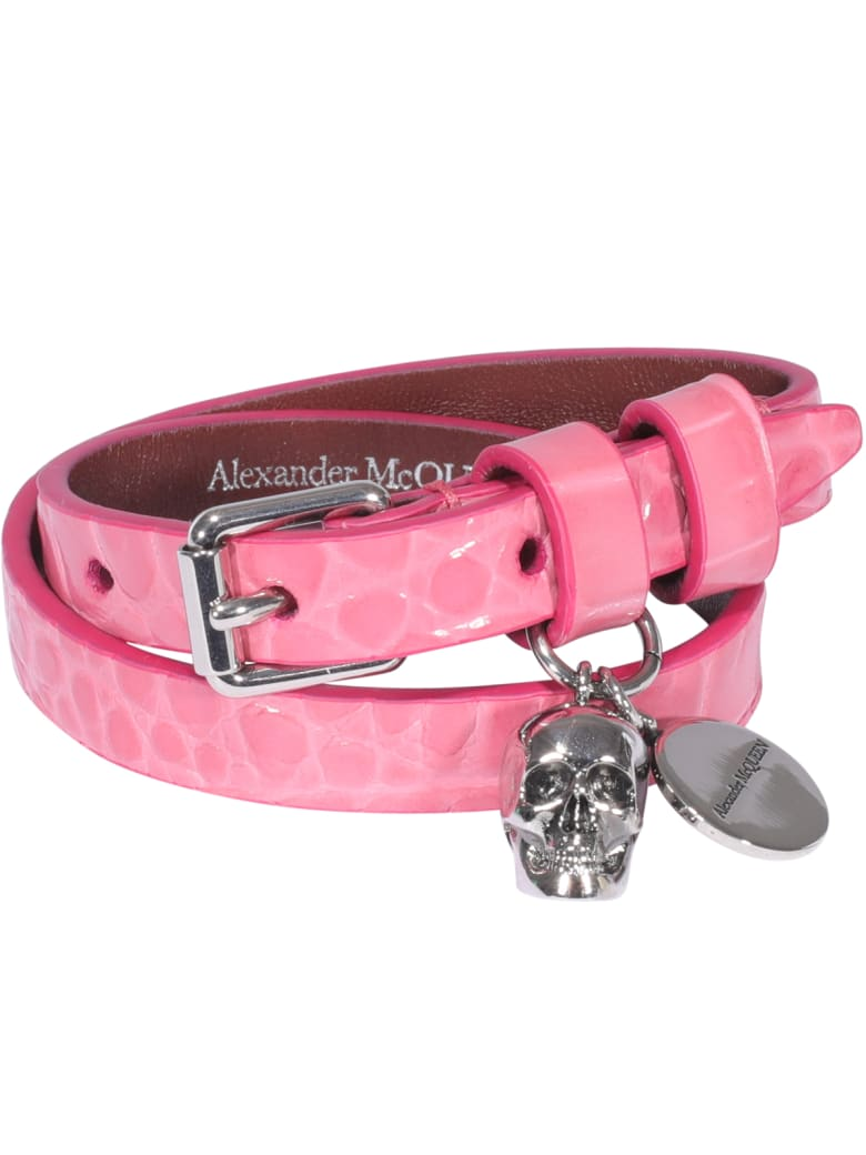 Alexander McQueen Skull Bracelet - PINK