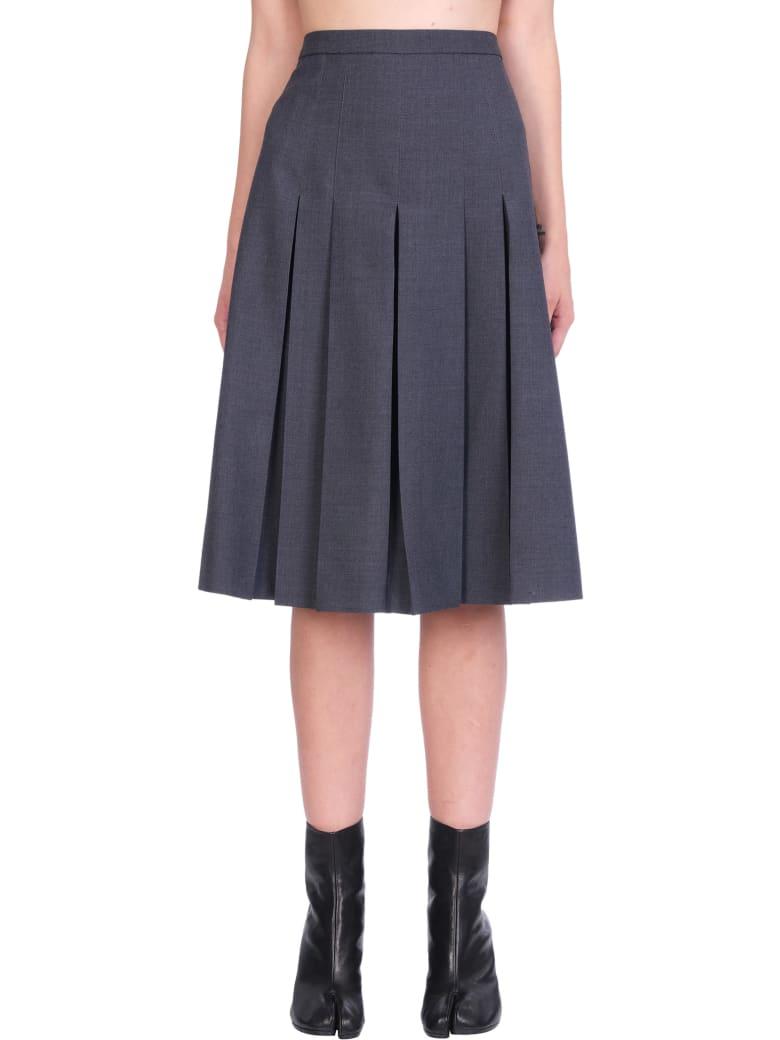 Maison Margiela Skirt In Grey Wool - grey
