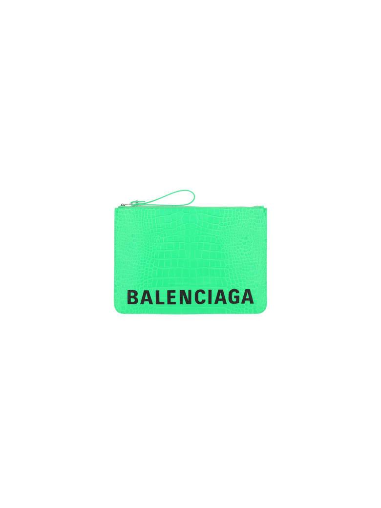 Balenciaga Pouch - Fluo green/l black