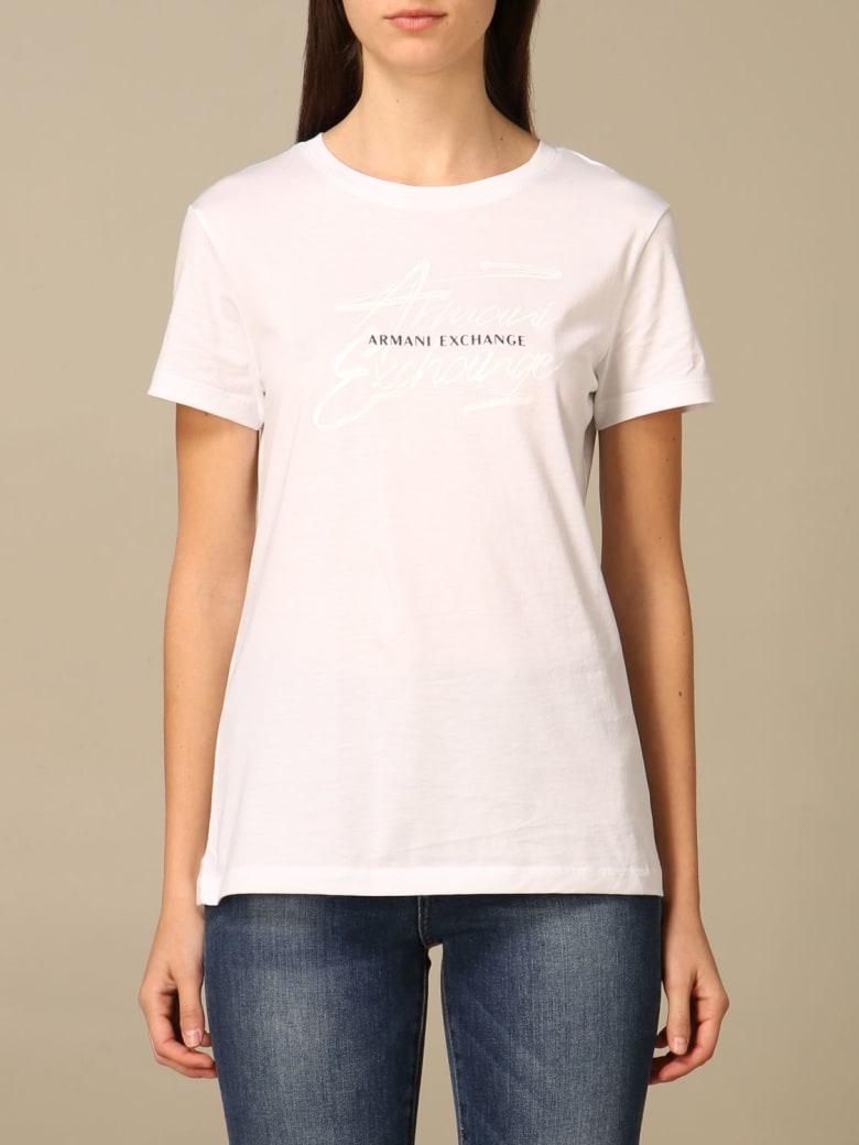 Armani Collezioni Armani Exchange T-shirt Armani Exchange Cotton T-shirt - White