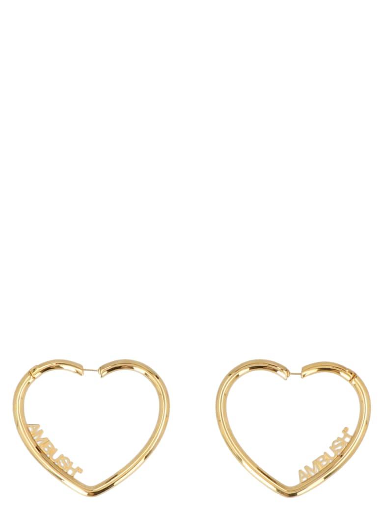 AMBUSH 'heart Hoop' Earrings - Gold