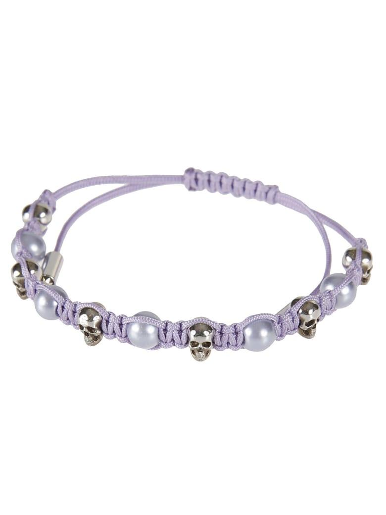 Alexander McQueen Pearl & Skull Bracelet - Lavender