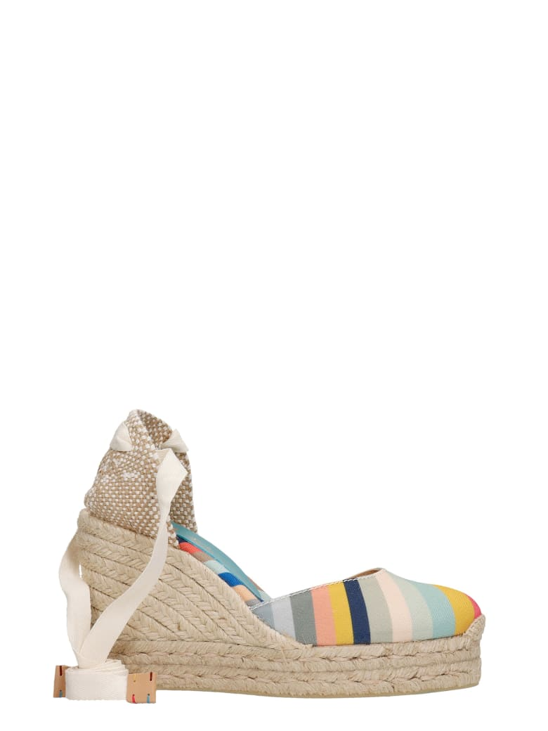 Castañer by Paul Smith Carina Ps 042 Wedges In Beige Canvas - beige