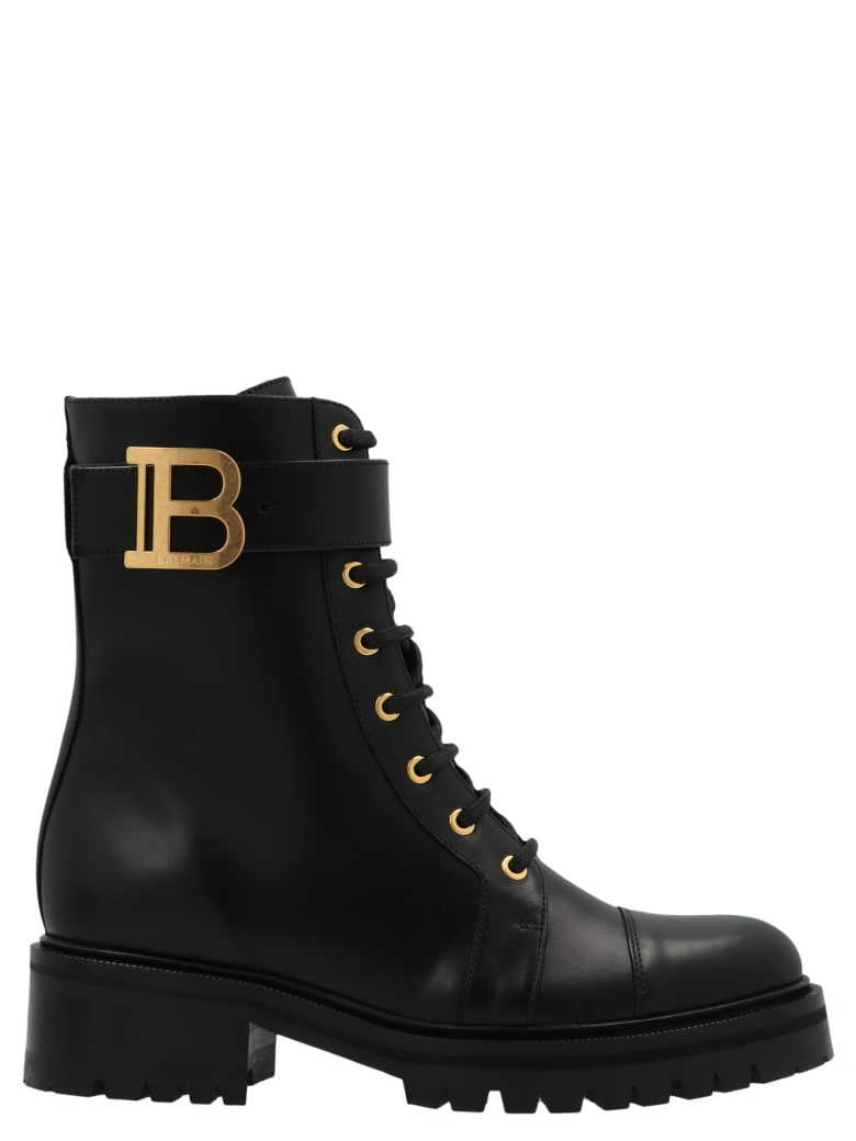 Balmain 'ranger Boot' Shoes - Black