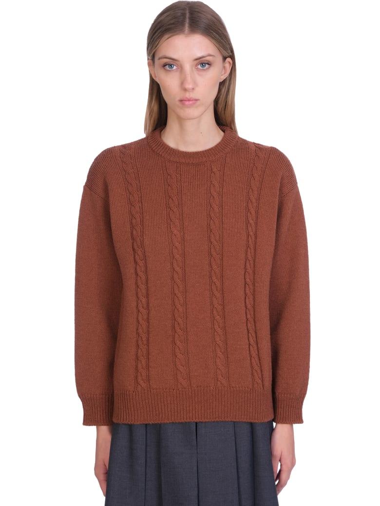 Maison Margiela Knitwear In Brown Wool - brown